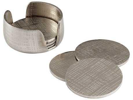 Cyan Design Nickel Coasters