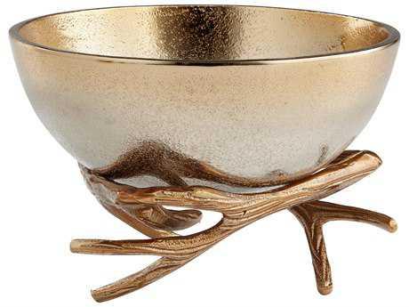 Cyan Design Antler Anchored Gold Medium Bowl