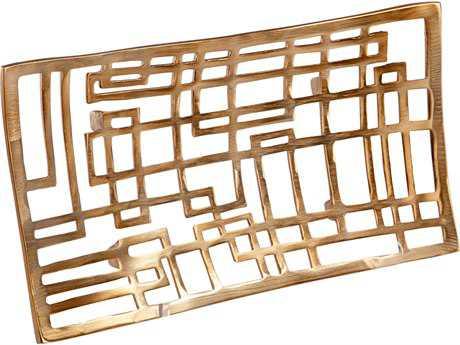 Cyan Design Circuit Board Antique Brass Small Tray