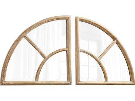 Cyan Design Any Way You Slice It Oak 31'' Wide Wall Mirror
