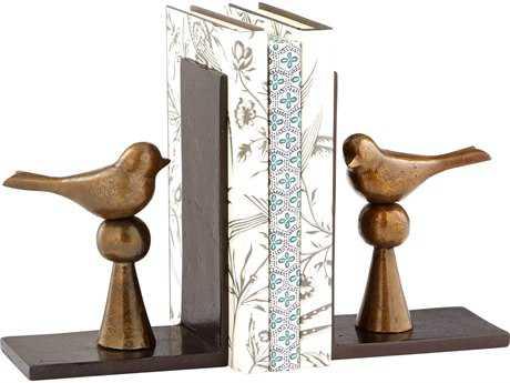 Cyan Design Birds Antique Brass Book Ends