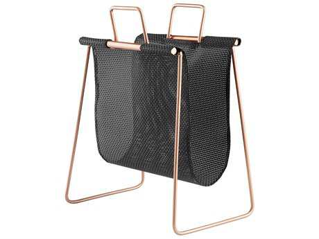 Cyan Design Handle It Black & Gold Magazine Rack