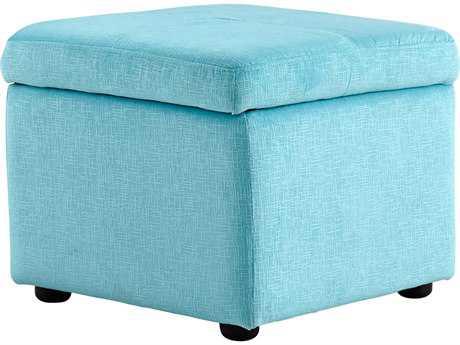 Cyan Design Huffington Blue Ottoman