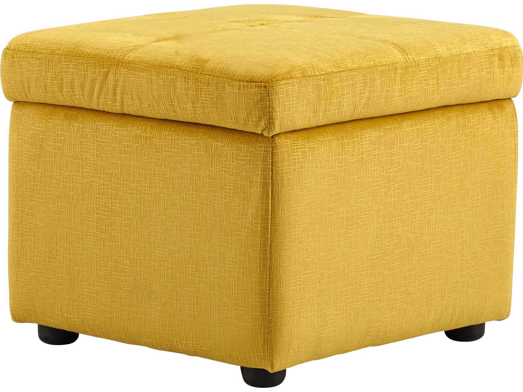 Cyan Design Hiffington Yellow Ottoman C308347