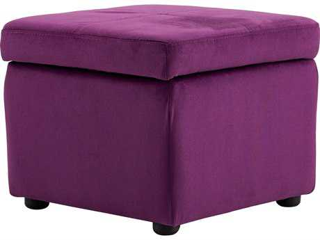 Cyan Design Hiffington Purple Ottoman