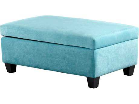 Cyan Design Aldous Blue Ottoman
