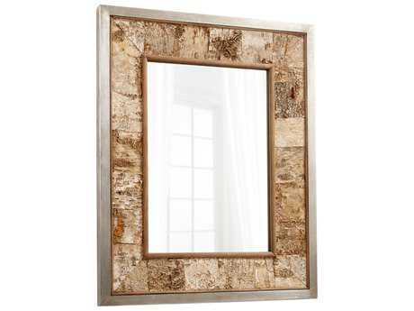 Cyan Design Drift Away Galvanized Metal & Oak 36.5''W x 45.5''H Rectangular Wall Mirror