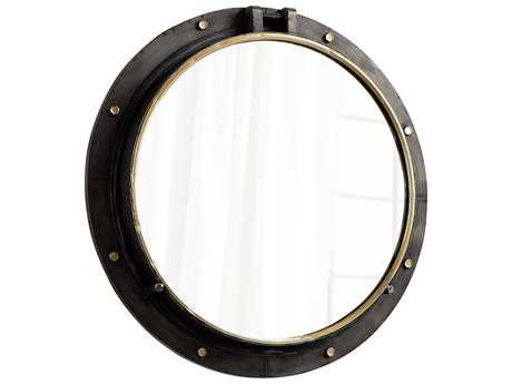 Cyan Design Barrel Canyon Bronze & Gold 29.5'' Wide Round Wall Mirror