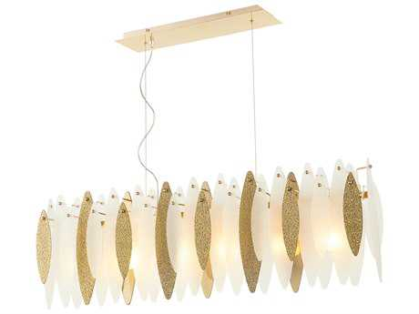 Cyan Design Vega Satin Gold Six-Light 46'' Long Island Light