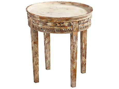 Cyan Design Annalisa Whitewashed 20'' Wide Round End Table
