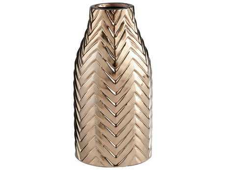 Cyan Design Herringbone Bronze Small Vase