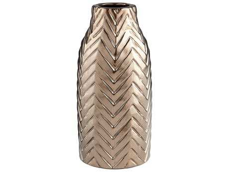 Cyan Design Herringbone Bronze Large Vase