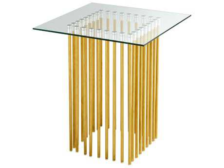 Cyan Design Corzetti Satin Gold 23.5'' Wide Square End Table