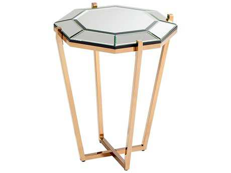 Cyan Design Elera Rose Gold 20'' Wide Octagon End Table