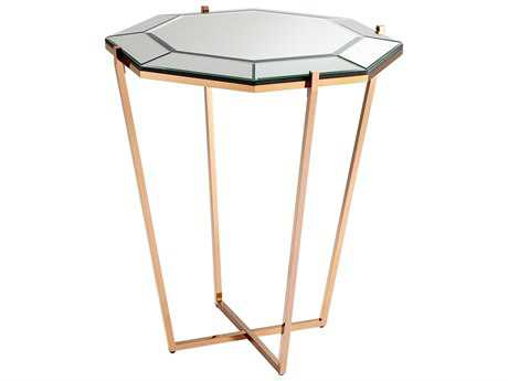 Cyan Design Elera Rose Gold 30''Wide Octagon Foyer Table