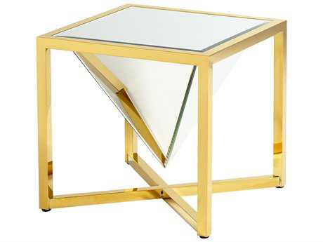 Cyan Design Titan Brass 21'' Wide Square End Table