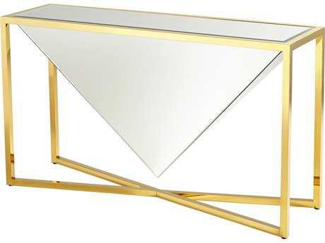 Cyan Design Titan Brass 55''L x 16''W Rectangular Console Table