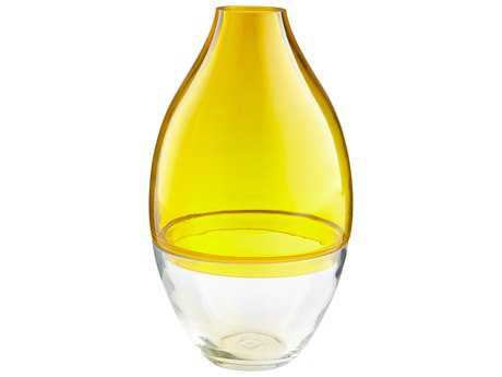 Cyan Design Mellow Yellow & Clear Small Vase