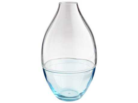 Cyan Design Mirage Blue & Clear Small Vase