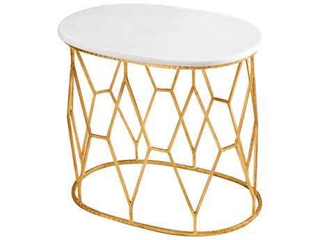 Cyan Design Telex Gold Leaf 24''L x 16.5''W Oval End Table