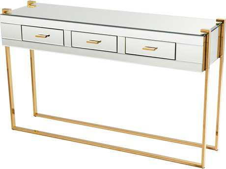 Cyan Design St Clair Aged Brass and Black 53''L x 17''W Rectangular Console Table