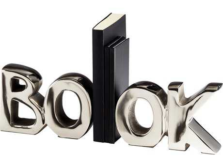 Cyan Design Nickel The Book Bookends