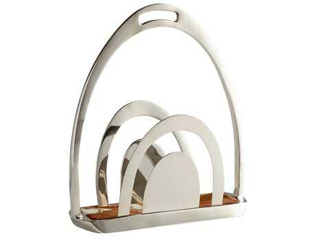 Cyan Design Nickel Placeholder Magazine Rack