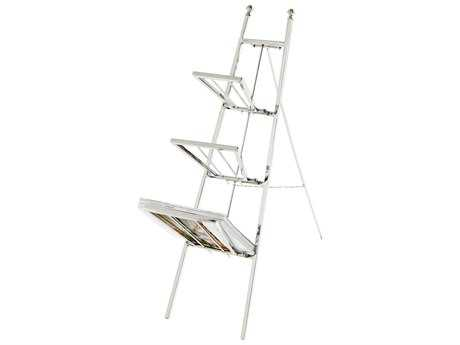 Cyan Design Polished Nickel Easel Magazine Rack