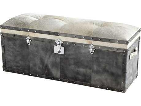 Cyan Design Casselton Grey Trunk Ottoman
