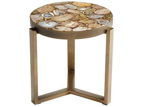 Cyan Design Sundance Antique Brass 17'' Wide Round Sundance End Table
