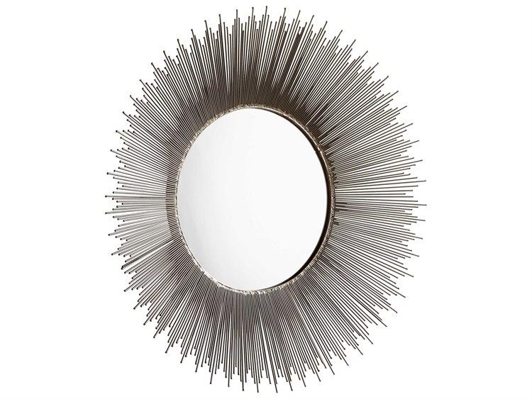 Cyan Design Aludra Zinc Antique 31 Wide Round Sunburst Wall Mirror