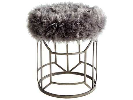 Cyan Design Ushanka Graphite and Grey Accent Stool
