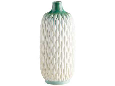 Cyan Design Green and White Glaze Medium Verdant Sea Vase