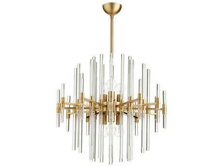 Cyan Design Quebec Aged Brass Six-Light 26'' Wide Pendant Light