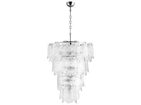 Cyan Design Cascata Polished Nickel 15-Light 27'' Wide Pendant Light