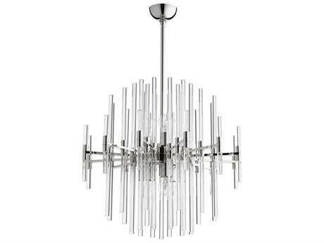 Cyan Design Quebec Polished Nickel Six-Light 26'' Wide Pendant Light