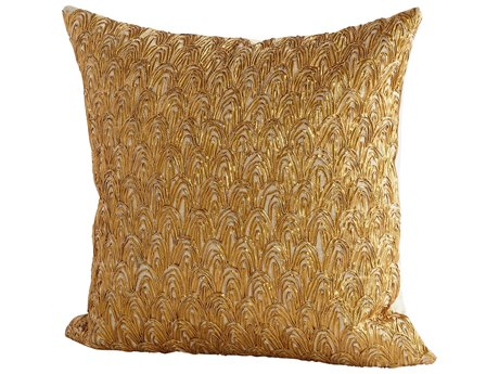 Cyan Design Fancy Pheasant Gold 18'' Square Pillow