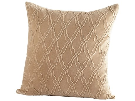 Cyan Design Rivori Beige 18'' Square Pillow