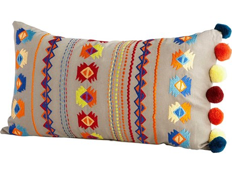 Cyan Design Folklorico Multi Colored 14'' x 24'' Rectangular Pillow