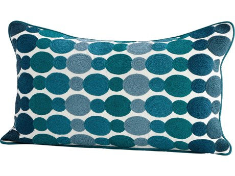 Cyan Design Abole Water Blue 14'' x 24'' Rectangular Pillow