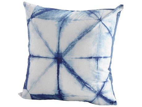 Cyan Design Prismatic Blue and White 18'' Square Pillow