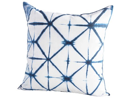 Cyan Design Aquaris Blue and White 18'' Square Pillow