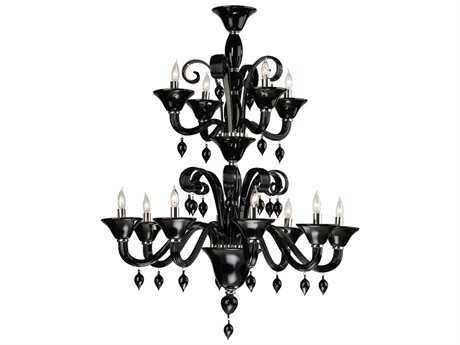 Cyan Design Treviso Chrome & Black 12-Light 38'' Wide Grand Chandelier