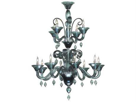 Cyan Design Treviso Chrome & Indigo Smoke 12-Light 38'' Wide Grand Chandelier