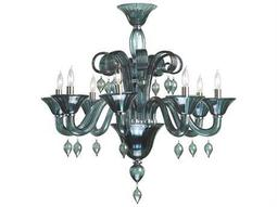 Treviso Chrome & Indigo Smoke Eight-Light 29'' Wide Chandelier