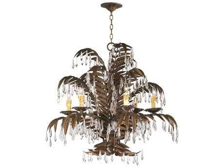 Cyan Design Largo Golden Antiqua Six-Light 33'' Wide Chandelier