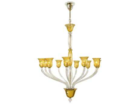 Cyan Design Vetrai Amber Ten-Light 46 Wide Chandelier