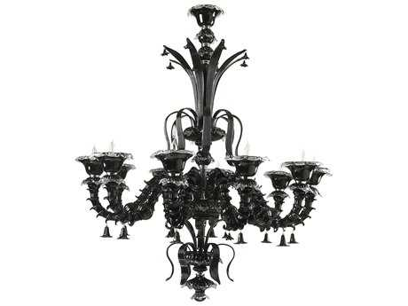 Cyan Design Venetn Noir Black Ten-Light 49'' Wide Grand Chandelier