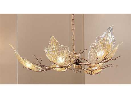 Classic Lighting Corporation Autumn Leaves Natural Bronze Six-Light 33 Wide Grand Chandelier