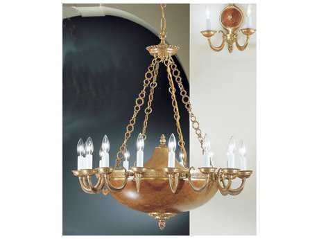 "Classic Lighting Corporation Bonaparte Satin Bronze & Siena Patina 19-Light 30"" Wide Chandelier"